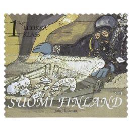 Suomenlahti - Sukeltaja St. Mikaelin ruumassa  postimerkki 1 luokka