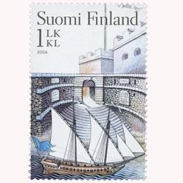 Suomenlinna - Kuninkaanportti  postimerkki 1 luokka