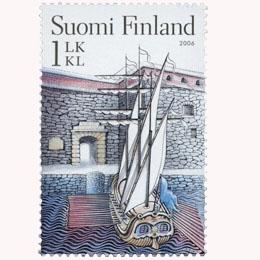 Suomenlinna - Tenalji von Fersen  postimerkki 1 luokka