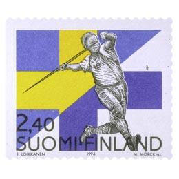 Suomi - Ruotsi -maaottelu postimerkki 2 - Suomalaiset postimerkit v. 1856 - 2014