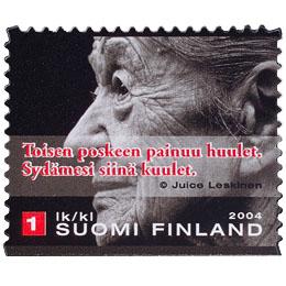 Suudelma - Toisen poskeen ...  postimerkki 1 luokka