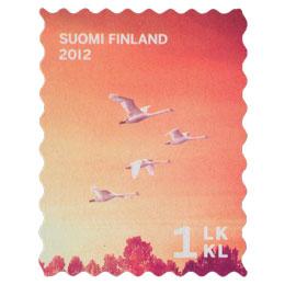 Syysuni - Joutsenet  postimerkki 1 luokka