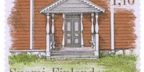 Talonpoikaisrakennuksia - Havuselan talon kuisti Kauhajoelta  postimerkki 1