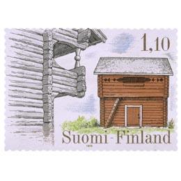 Talonpoikaisrakennuksia - Luukilan ja Keskikankaan luhtiaitat Pohjanmaalta  postimerkki 1