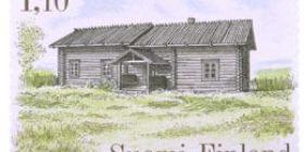 Talonpoikaisrakennuksia - Murtovaaran talo Valtimosta  postimerkki 1
