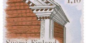 Talonpoikaisrakennuksia - Rasulan talon aitta Kuortaneelta  postimerkki 1