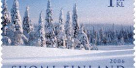 Talvimaisema  postimerkki 1 luokka