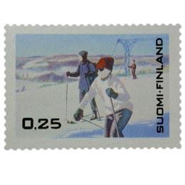 Talvimatkailu  postimerkki 0