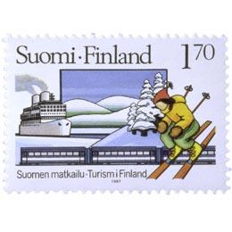 Talvimatkailu  postimerkki 1