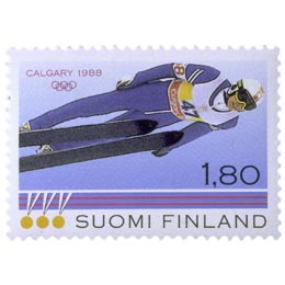 Talviurheilu  postimerkki 1