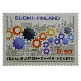Teollisuutemme  postimerkki 0