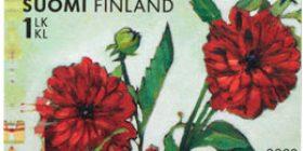 Terveisin! - Kukkia  postimerkki 1 luokka