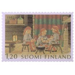 Tonttujen joulupuuro  postimerkki 1