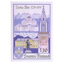 Turku 750 vuotta  postimerkki 1