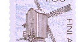 Tuulimylly  postimerkki 1 markka