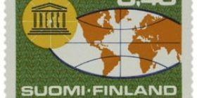 UNESCO 20 vuotta  postimerkki 0