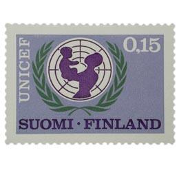 UNICEF 20 vuotta  postimerkki 0