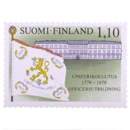 Upseerikoulutus 200 vuotta  postimerkki 1
