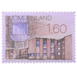 Uutta suomalaista arkkitehtuuria -  Kuusamon kunnantalo  postimerkki 1
