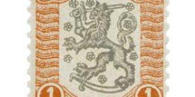 Vaasan malli 1918 punainen / musta postimerkki 1 markka