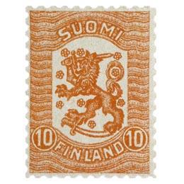 Vaasan malli 1918 punainen postimerkki 0