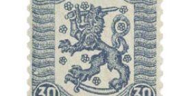 Vaasan malli 1918 sininen postimerkki 0