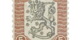 Vaasan malli 1918 violetti / musta postimerkki 5 markka