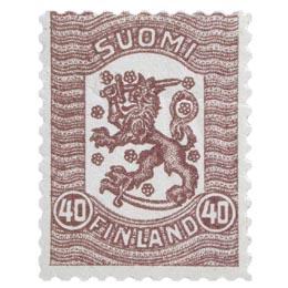 Vaasan malli 1918 violetti postimerkki 0