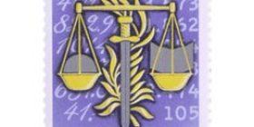 Valtiontalouden tarkastusvirasto 150 vuotta  postimerkki 0