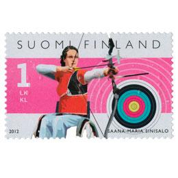 Vammaisurheilu - Saana-Maria Sinisalo  postimerkki 1 luokka