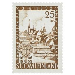 Vanhan Vaasan palo 1852 ruskea postimerkki 25 markka