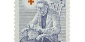 Vanhusten avohuolto sininen postimerkki 15 markka