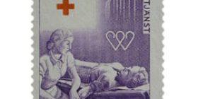 Veripalvelu - Verenluovutus violetti postimerkki 12 markka