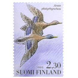 Vesilintuja - Sinisorsapari  postimerkki 2
