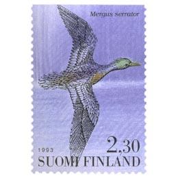 Vesilintuja - Tukkakoskelo  postimerkki 2