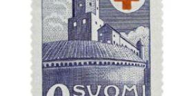 Viipurin linna sininen postimerkki 2 markka