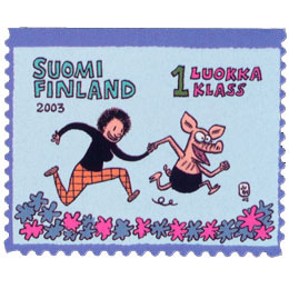 Viivi ja Wagner  postimerkki 1 luokka
