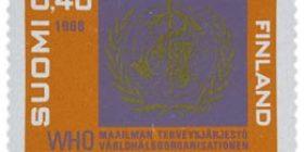 WHO 20 vuotta  postimerkki 0