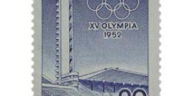 XV Olympialaiset - Stadion sininen postimerkki 20 markka