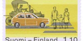 Yksityisautoliikenne  postimerkki 1