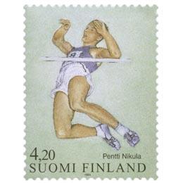 Yleisurheilu - Pentti Nikula  postimerkki 4