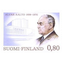 Alvar Aalto 1898 - 1976  postimerkki 0