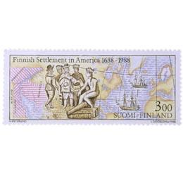 Amerikan suomalaisasutus 1638-1988  postimerkki 3 markka