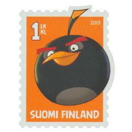 Angry Birds - Musta lintu  postimerkki 1 luokka