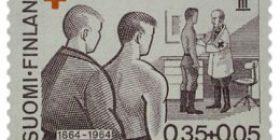 Geneven sopimus 100 vuotta ruskeanvioletti postimerkki 0
