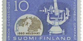 Geodeettis-geofysikaalisen unionin XII yleiskokous  postimerkki 10 markka