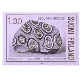 Geologia - Pallograniitti  postimerkki 1