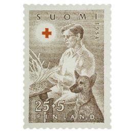 Invalidien ammattikoulutus ruskea postimerkki 25 markka