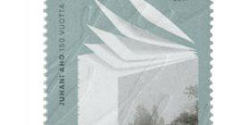 Juhani Aho 150 v - Paperipino  postimerkki 2 luokka