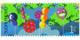 Juhlitaan - Ilmapallot  postimerkki 1 luokka